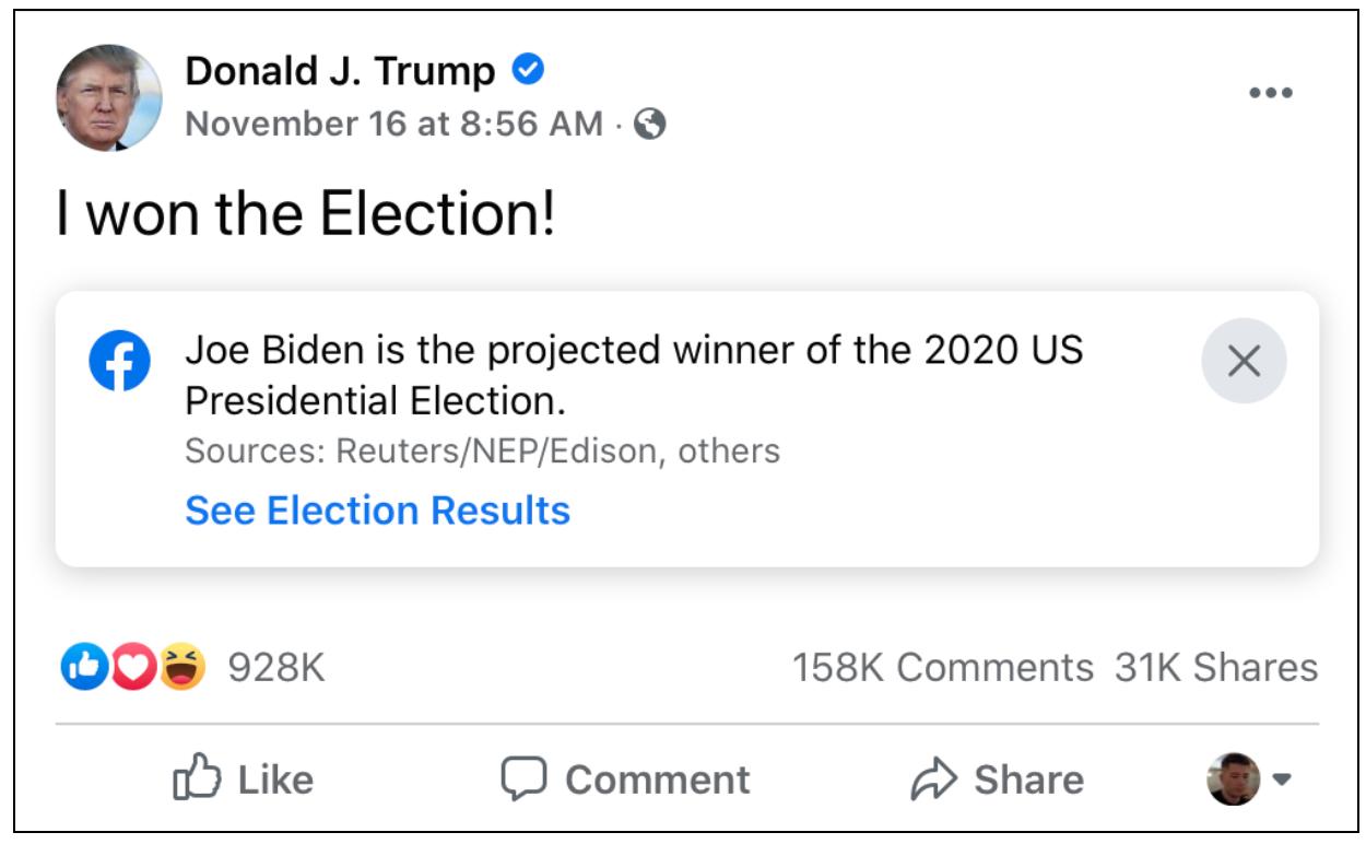 """""""I won the election!"""""""