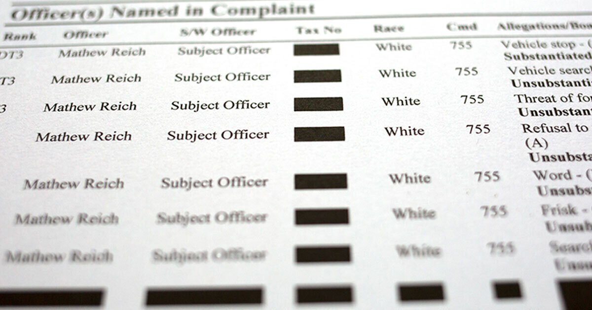The Complaint Files NYPD Unions Don't Want You to See