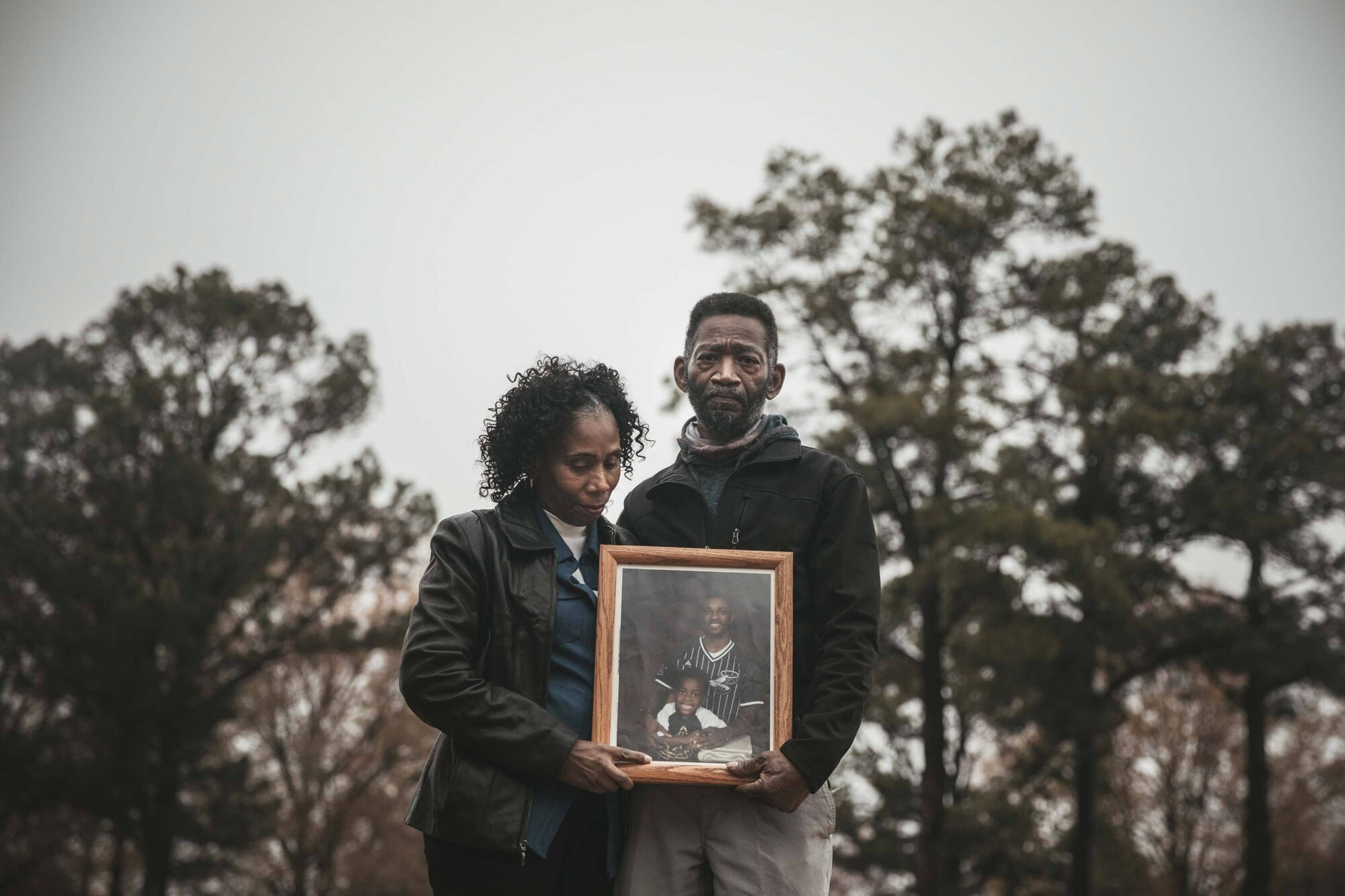Young's parents near their home in West Memphis. Young was working at the FedEx hub in Memphis when he was struck by a shipping container door. FedEx was fined $7,000 in connection with Young's death, but the penalty was later reduced.