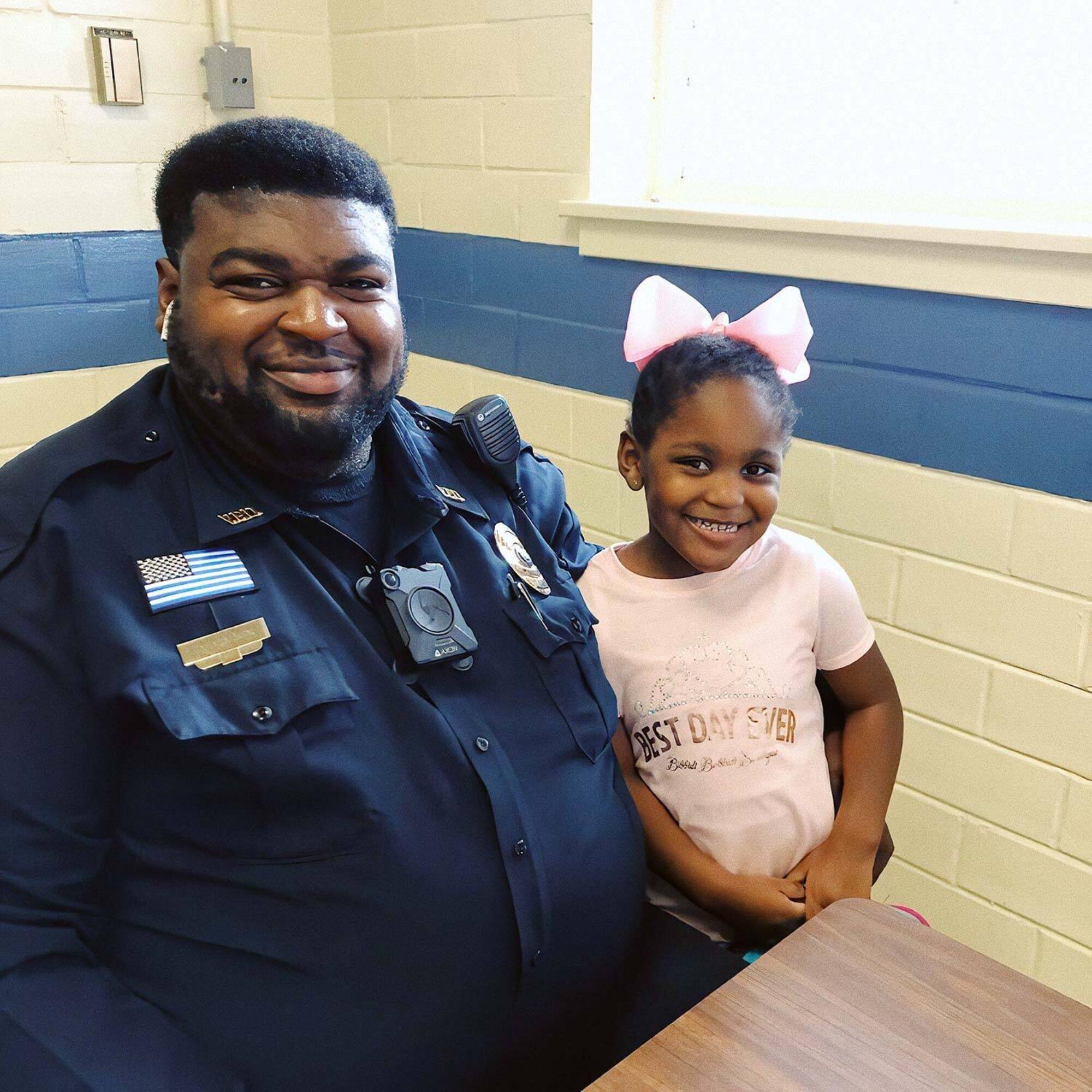 Kejuane Bates and his daughter, Madison.