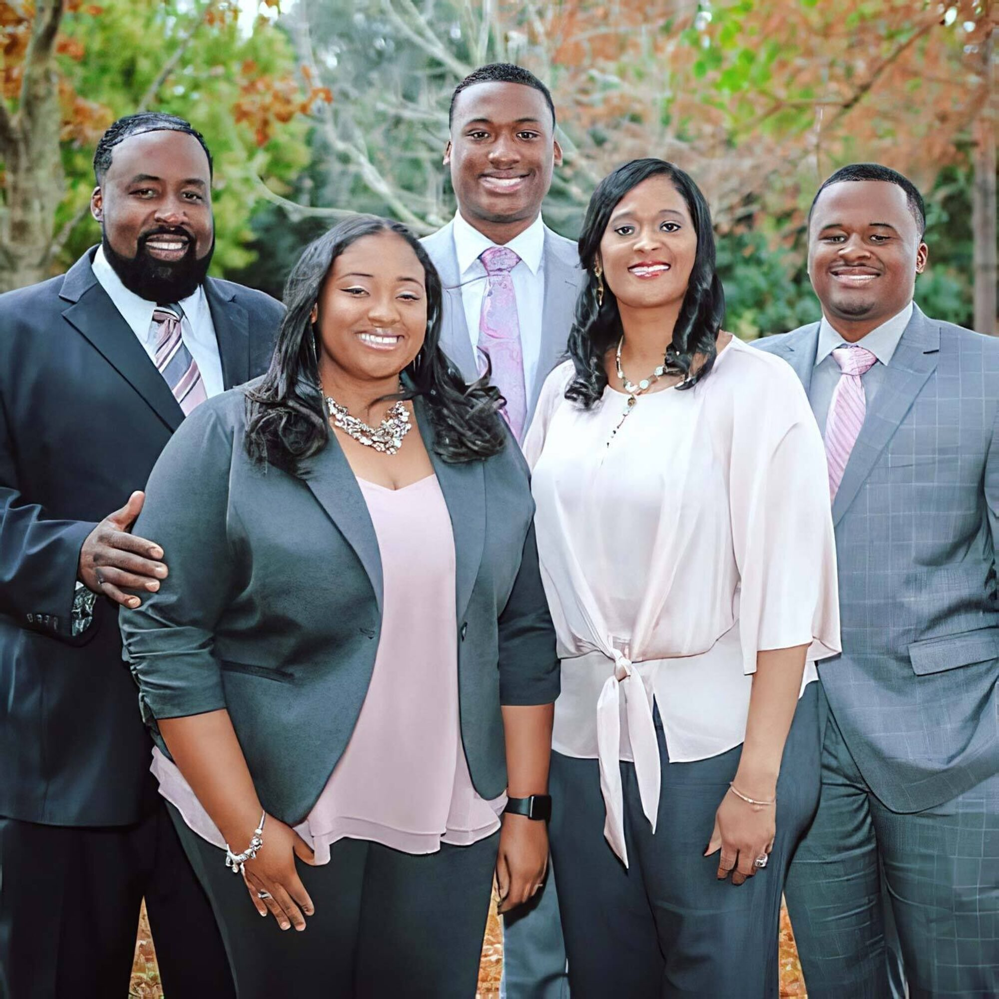 Clockwise from left, Kendall Pierre Sr., sons Kaden and Kendall Jr., wife Sabrina and daughter Tayler.
