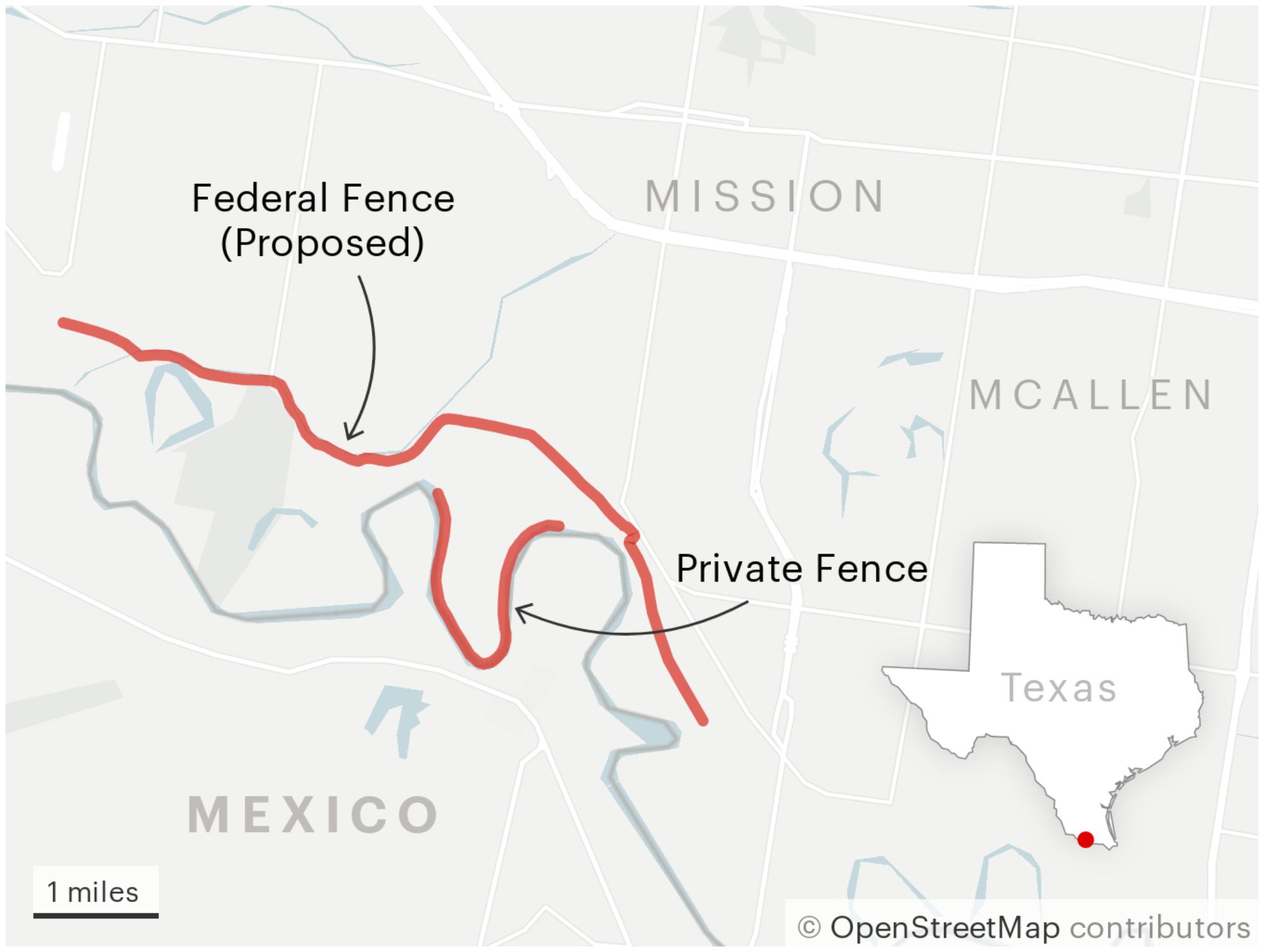 Construyó un muro en la frontera con fondos privados. Ahora está en riesgo de desplomarse si no lo reparan. 2