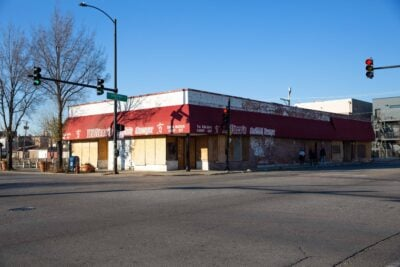 The shuttered Wallace's Catfish Corner.