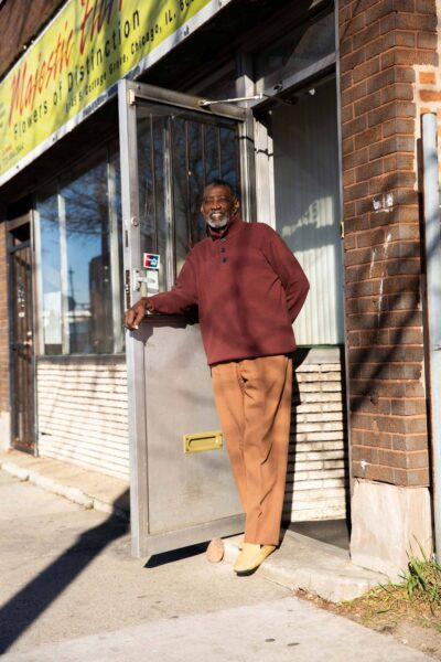 Clarence Glover, owner of Majestic Florist.