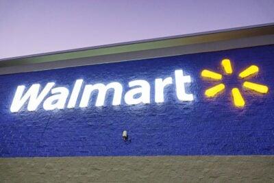 Exterior of Walmart.
