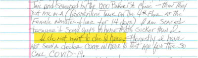 """""""I Do Not Want to Die in Here"""": Letters From the Houston Jail 4"""