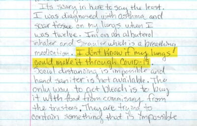 """""""I Do Not Want to Die in Here"""": Letters From the Houston Jail 6"""