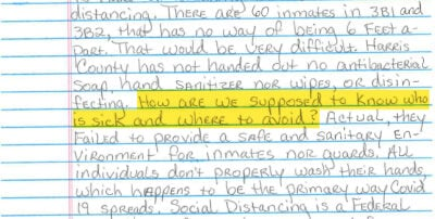 """""""I Do Not Want to Die in Here"""": Letters From the Houston Jail 8"""